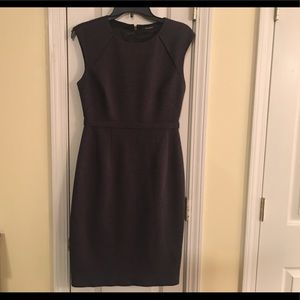 Tahari charcoal gray dress